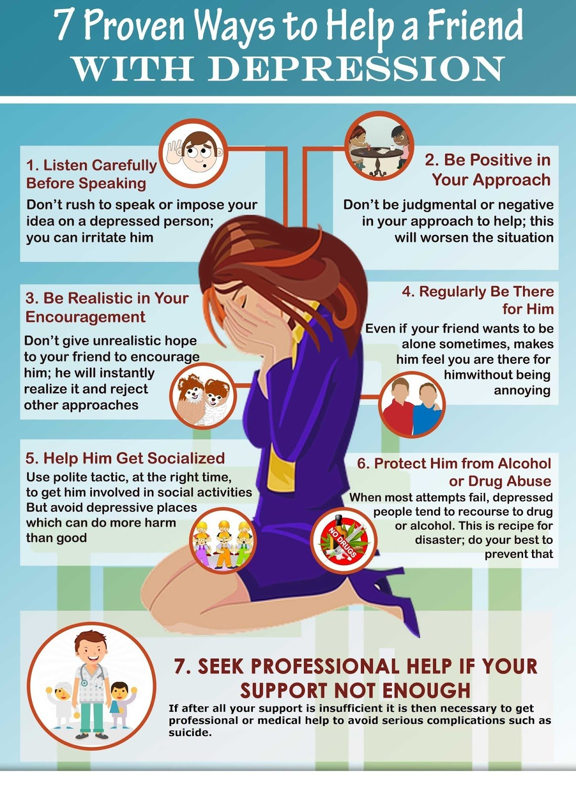 7 Simple Tips to Help a friend with Depression ...